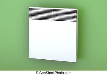 Convection heater on the wall, 3D rendering