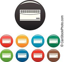 Convector icons set color