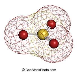 convencional, coding:, oxígeno, color, (red)., molecule.,...