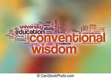 convencional, palabra, resumen, sabiduría, plano de fondo, nube