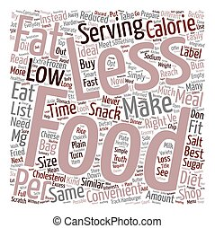Convenience Food Tips text background wordcloud concept