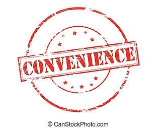 Convenience - Rubber stamp with word convenience inside,...