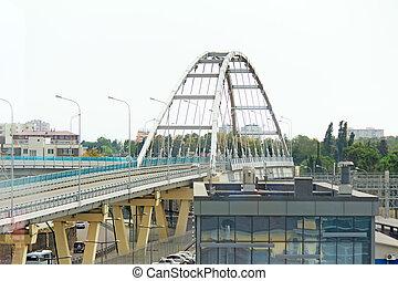 Convenient bridge to traffic of vehicles.