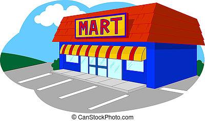 Convenient Store - Convenient store isolated.