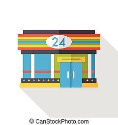 convenient store flat icon