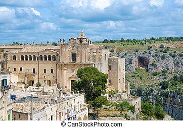 Convent of Saint Agostino church in Sasso Barisano, Matera, ...
