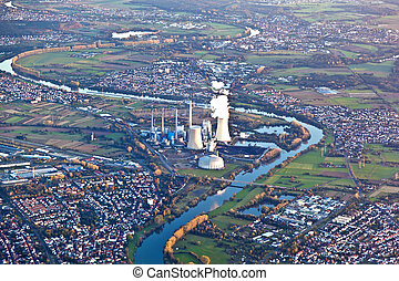 conventional power plant at river Main