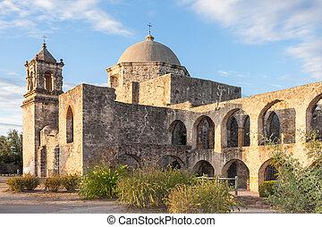 Convento and Arches of Mission San Jose in San Antonio,...