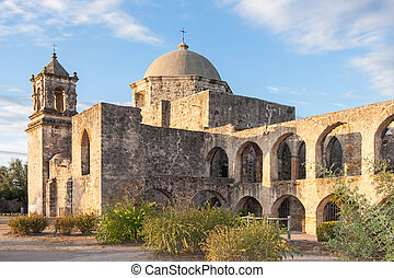 Convento and Arches of Mission San Jose in San Antonio, ...