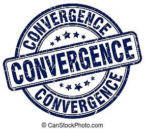 convergence blue grunge stamp