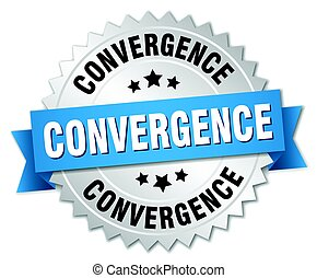 convergence round isolated silver badge