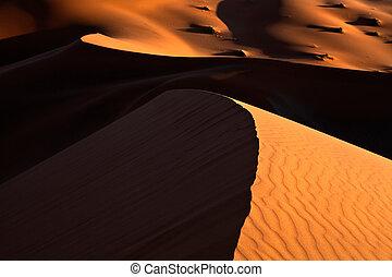 converger, dunas