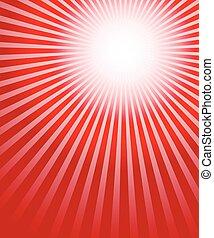 converger, starburst, rayons, illustration., lignes, irradier, arrière-plan., vecteur, connu, sunburst
