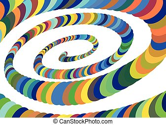 convergere, center., colorito, astratto, spirale, illustrazione, vettore, disegno, ellittico, element.