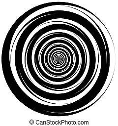 convergeren, spiraling, abstract, -, circles., draaikolk,...