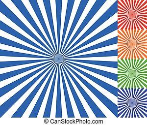 convergeren, starburst, stralen, illustration., lijnen, ...
