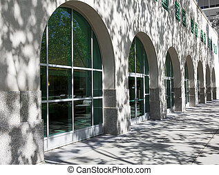 Converging Arches - Convering arches of a business office ...