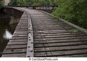 Converging Railroad Tracks - Old abandoned railroad bridges ...