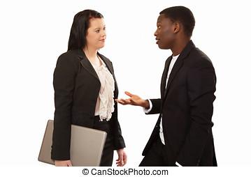 conversação, negócio