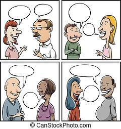 conversação, painéis