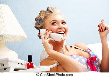 conversação, telefone