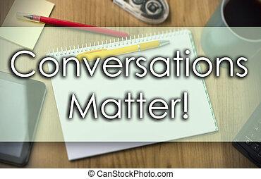 conversações, matter!, -, conceito negócio, com, texto