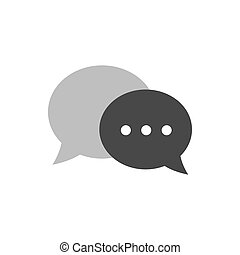 conversa, icon., símbolo, em, trendy, apartamento, estilo, isolado, branco, experiência.