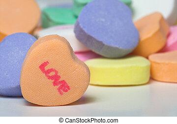 conversación, corazones, -, amor