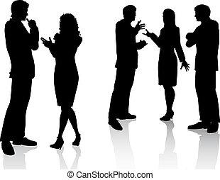 conversaciones, empresa / negocio