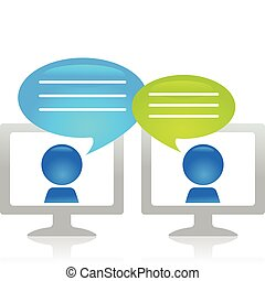 conversando, internet