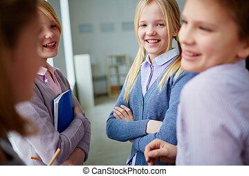 conversation, élèves
