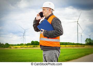 conversation, électricien, ingénieur
