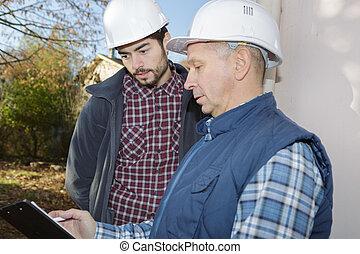 conversation, architecte, avoir, arpenteur