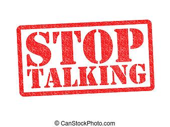 conversation, arrêt