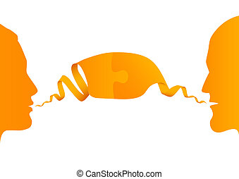 conversation between two people, vector illustration