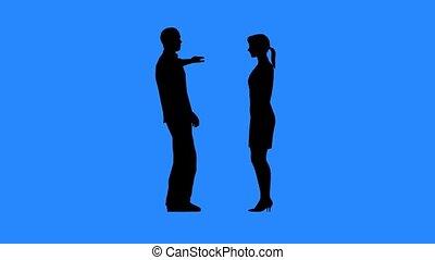 conversation, chaque, femme homme, autre