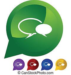 Conversation icon set