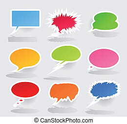 Conversation cloud2 - Set of icons of clouds for...