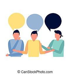conversation commerciale, gens