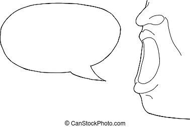 conversation, contour, personne