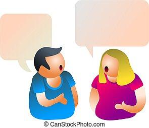 conversation - couple chatting
