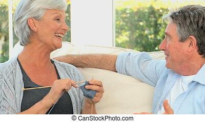 conversation, couple, mûrir