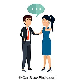 conversation, couple, smartphone, business