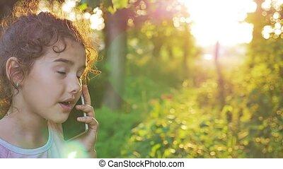 conversation, doré, lent, heure, nature, mouvement,...