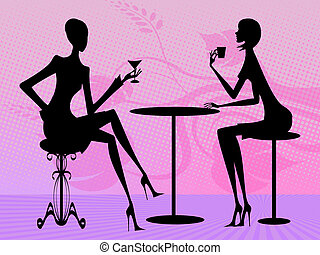 conversation - two women are talking