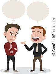 conversation - a man speaking and a man get bored