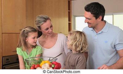 conversation, famille, cuisine