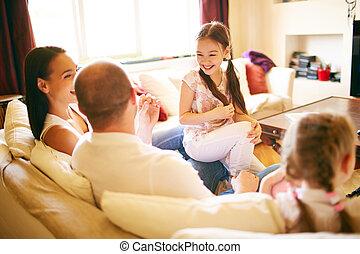 conversation, famille