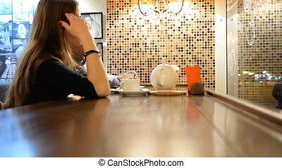 conversation, femme, homme, evenin