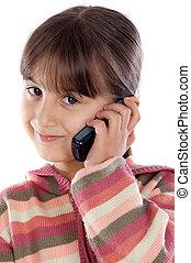 conversation, girl, cellphone